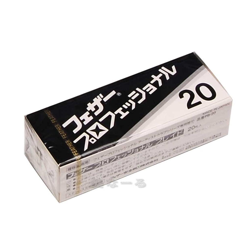 肌寒い米国エキサイティングフェザー プロフェッショナル ブレイド PB-20 替刃 20枚入