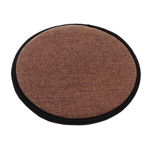 LOVIVER Cotton Brown Kitchen Chair Cushion Dining Chair Pads with Gripper Backing - Round 30cm