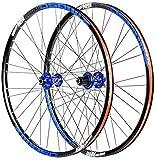 Juego De Ruedas Bicicleta MTB Rueda de bicicleta Set 26 '/27.5', disco de freno de disco delantero de montaña Bicicleta de la rueda trasera doble pared de la rueda Llantas Quick Release 32 hoyos 8-11