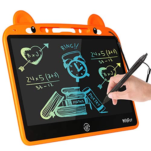 MILYFER LCD Writing Tablet 13.5 Inch Doodle Board, Colorful Erasable Drawing Board Toddlers Scribbler Boards, Educational Toys Gift for Kids