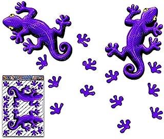 紫ヤモリ動物ツインパックビニール窓バンパーデカールステッカー車トラックキャラバンラップトップ自転車-ST00032PL_3-JASステッカー