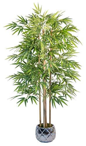 Maia Shop 1137 Bambusbaum mit Natürlichem Schilf, ideal für die Innendekoration, Baum, Künstliche Pflanze (150 cm), Bamboo