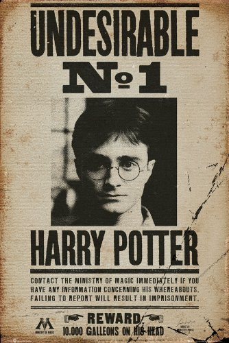 Tainsi Harry Potter Undesirable n. 1 Poster-11 x 17 pollici, 28 x 43 cm