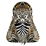 Unisex Superior Velvet Durags Designer Durag with Leopard Texture Zebra Texture Extra Long & Wide Tail for 360/450/720 Waves