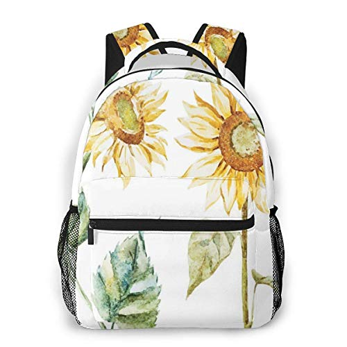 Lawenp School Backpacks Alluring Sunflowers Summer Inspired Design Agriculture for Teen Girls&Boys 16 Inch Student Bookbags Laptop Casual Rucksack
