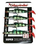 Sidewinder Lures - Anzuelos para pesca con forma de sardina multicolor Mackerel / Fire Talla:6 Inch