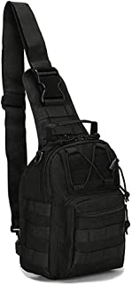 Rootless Tactical MOLLE Military Sling Daypack - Small Messenger Bag