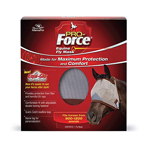 Manna Pro Pro-Force Equine Fly Mask | Made for Maximum Protection and Comfort