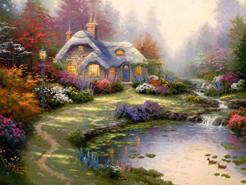 by Thomas Kinkade Painting Series - Jigsaw Puzzles for Adults 1000-Piece DIY Puzzle Kids Wooden Toys (A6)