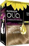 Garnier Coloration Permanente, Sans Ammoniaque, Aux Huiles Naturelles de Fleurs, Blond Foncé (7.0), Olia
