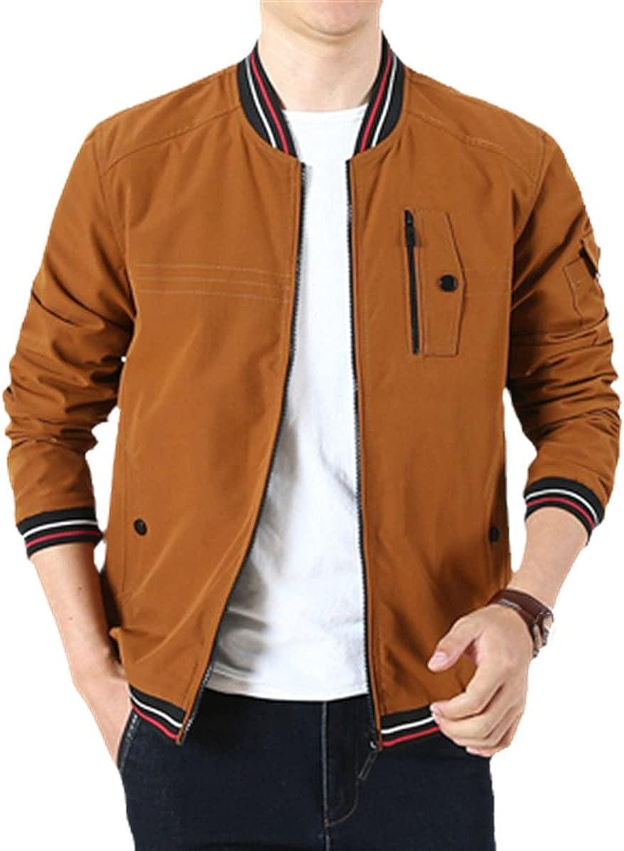 Men's Bomber Jacket Zipper Fashion Double-Sided Wear Cotton Jacket Casual Jacket Slim Fit Baseball Jacket