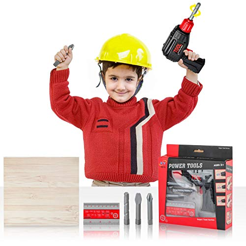 Toy Tool Drill,Kids Power Construction Tool Drill ,Electric Power Drill,Pretend Repairman for Kids Boys Girls Toddlers Drill Bit