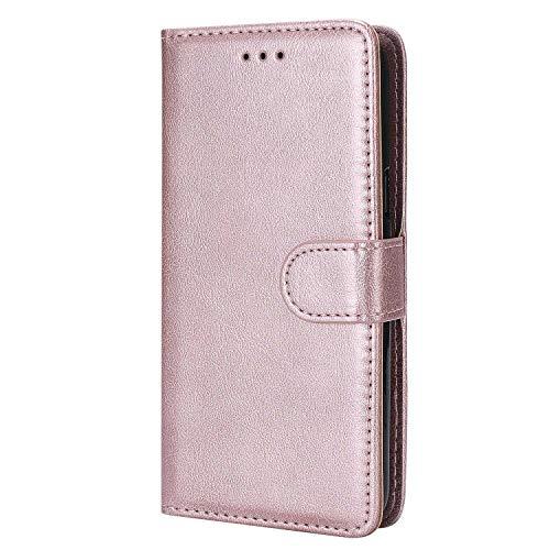 Bear Village® Hülle für Samsung Galaxy S5, Flip Leder Handyhülle Tasche mit Kartensfach, TPU Innere Ledertasche, 360 Grad Voll Schutz, Rose Gold