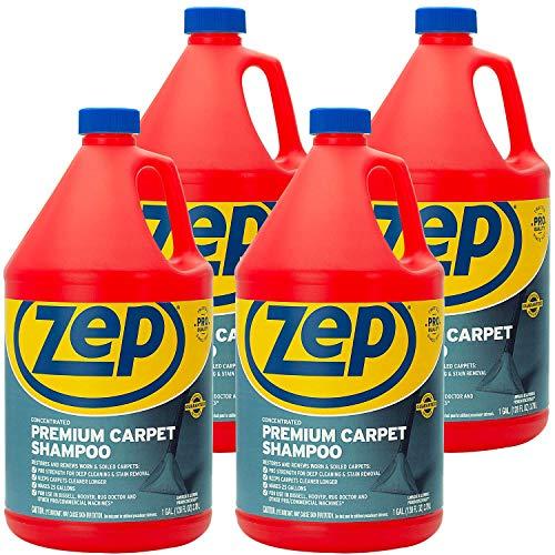 Zep Premium Carpet Shampoo 128 ounce ZUPXC128 (Case of 4) Concentrated Formula