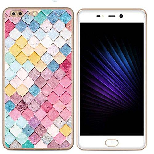 Easbuy Handy Hülle Soft Silikon Hülle Etui Tasche für Leagoo T5 Smartphone Cover Handytasche Handyhülle Schutzhülle