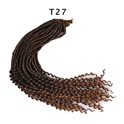 6Packs Curly Goddess Faux Locs Crochet Braids Synthetic Hair Extensions Dreadlock Wavy 22 Inch Soft Curly Fauxlocs Havana Mambo Twist Crochet Braided Locs Hair Extensions Braids Dreadlocks 24Roots100g