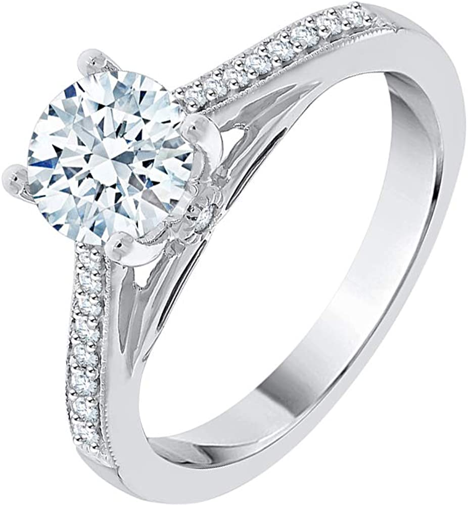KATARINA Diamond Engagement Popular Topics on TV standard Ring in Sterling cttw Silver 1 8