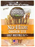Earth Animal No-Hide Cage-Free Chicken Stix Natural Rawhide Alternative Dog & Cat Chews, 10-Count