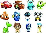 Personaggi di film mini pixar tra i più amati Dal design stilizzato, con espressioni autentiche Di misura compatta per giocare a casa o dove vuoi Personaggi straordinari da collezionare di cars, il viaggio di arlo, inside out, alla ricerca di nemo, w...