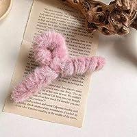 ヘアピン おしゃれ ヘアクリップ秋冬かわいいキャンディーカラーヘアー爪模造ウサギ女の子ヘアアクセサリーモデリングツール ヘアアクセサリー ヘアピン