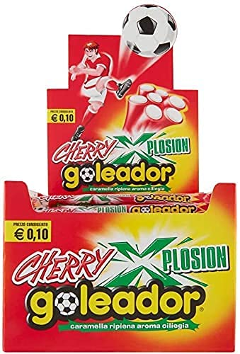 Goleador Xplosion Cherry - Box da 150 Caramelle Incartate Singolarmente - Aroma Ciliegia