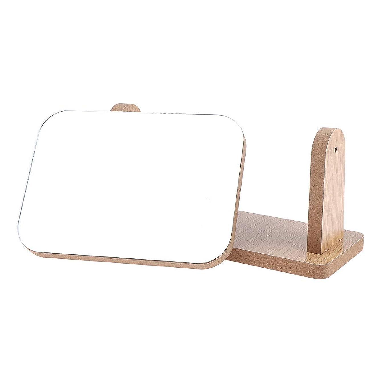 重なる韓国語受けるB Baosity メイクアップミラー 360度回転 お化粧 鏡 ミラー 2タイプ選べ - 横
