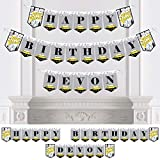 Big Dot of Happiness Personalized NYC Cityscape - Custom New York City Birthday Party Bunting Banner and Decorations - Happy Birthday Custom Name Banner