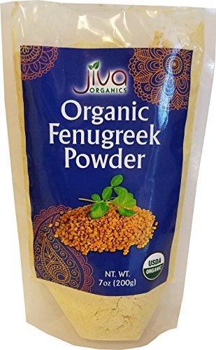 Jiva Organics Organic Fenugreek Powder 7 Ounce Bag - Non-GMO, Methi Powder