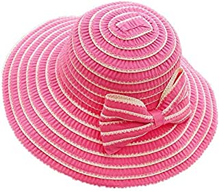 Summer Striped Bow Cloth Cap Large brimmed sunshade beach hat for lady M8034-3