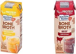Kitchen Basics Original Chicken Bone Broth, 8.25 fl oz & Kitchen Basics Original Beef Bone Broth, 8.25 fl oz