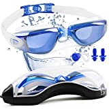 Songwin Gafas de natación con espejo, sin fugas, antivaho,...