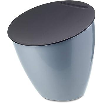 Spirella Poubelle /à cosm/étiques Poubelle 1 Litre Poubelle /à Couvercle pivotant Poubelle de Table Poubelle de Table Blanc
