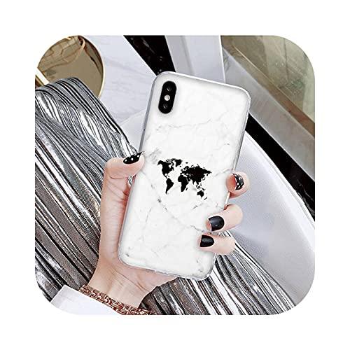 Carcasa para iPhone 7, funda de viaje en el mapa del mundo para iPhone X XS Max 6 6s 7 7plus 8 8Plus 5 5S SE 2020 XR 12 11 Pro max-a16-For iPhone6 6s