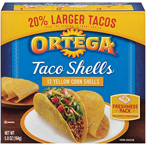 of tortillas leading brands only Ortega Taco Shells, Whole Grain, 12 Count, Pack of 12