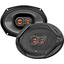 """small JBL GX963 300W 6 """"X 9"""" GX Series 3-Way Coaxial Car Speaker (Pair 2, Total 600W) Black"""