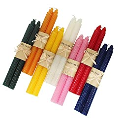 set of coloured beeswax candles