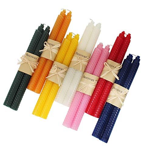 XIANGZHU Pure Beeswax Handmade Taper Candles
