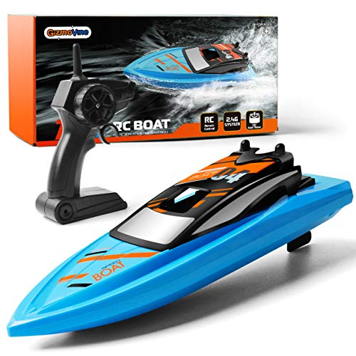 GizmoVine Remote Control Boat 2.4GHz High Speed 4 Channels RC Boats for Kids & Adults, Pool Toys for Pools, Lakes and Outdoor Use