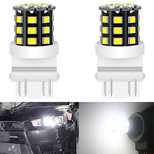 Paquete de 2 3056 3156 3057 3157 Luz Trasera de la cola del Automóvil 12V-24V Blanco 2835 33 Bombilla LED SMD - Reemplazo de la luz Intermitente de la cola Bombilla LED Lámparas de Señalización