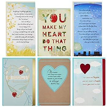Hallmark Flirting/Dating/Love Assortment  6 Cards and 6 envelopes