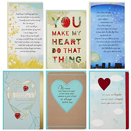 Price comparison product image Hallmark Flirting / Dating / Love Assortment (6 Cards and 6 envelopes)