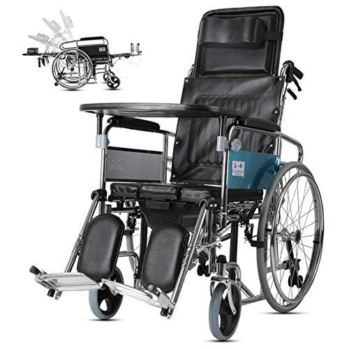 HDGZ Folding Heavy Duty Extra Wide Wheelchair Seat Width 44Cm