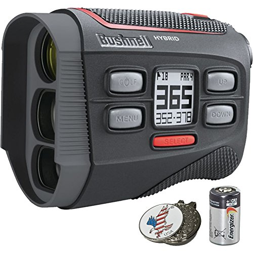Bushnell Bundle | 2018 Hybrid Golf Laser Rangefinder GPS + 2(Two) CR2 Batteries...