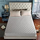 YDyun Protector de colchón - Protector de colchón antialérgico Funda de colchón de algodón Antideslizante
