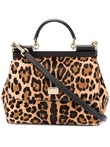 DOLCE E GABBANA Luxury Fashion Damen BB6002AZ392HAALM Braun Leder Handtaschen   Herbst Winter 19