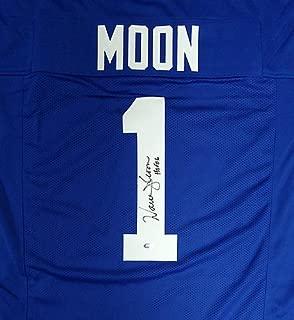 Seattle Seahawks Warren Moon Signed Blue Jersey HOF 06 - Certified Authentic Autograph