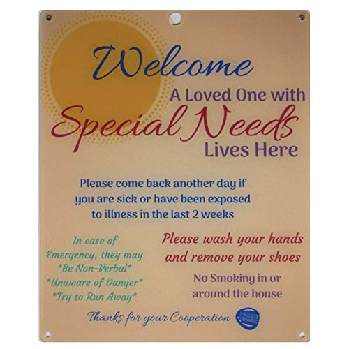 Rolling Buddies Special Needs Child Door Sign - Orange