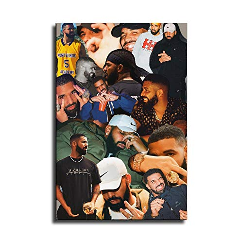 Drake Collage Canvas Art Poster and Wall Art Picture Print Modern Family Bedroom Decor Posters