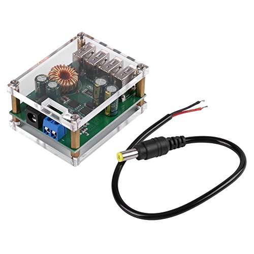 Output Buck Converter met 4USB, DC 7-60V tot 5V 5A Niet-soldeeraansluitingen Voeding Step-Down Module DC 5.5/2.1