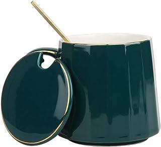 Taza De Café De Cerámica 12 leche taza de té Taza de personalidad constelaciones Cuchara Conjunto de Regalo